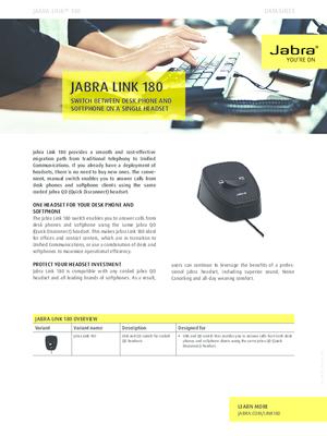 Aastra Shop Jabra Link 180 Umschalter Tischtelefon Softphone