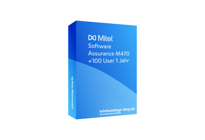 Produktbild - Mitel Software Assurance M470 +100 User 1Jahr