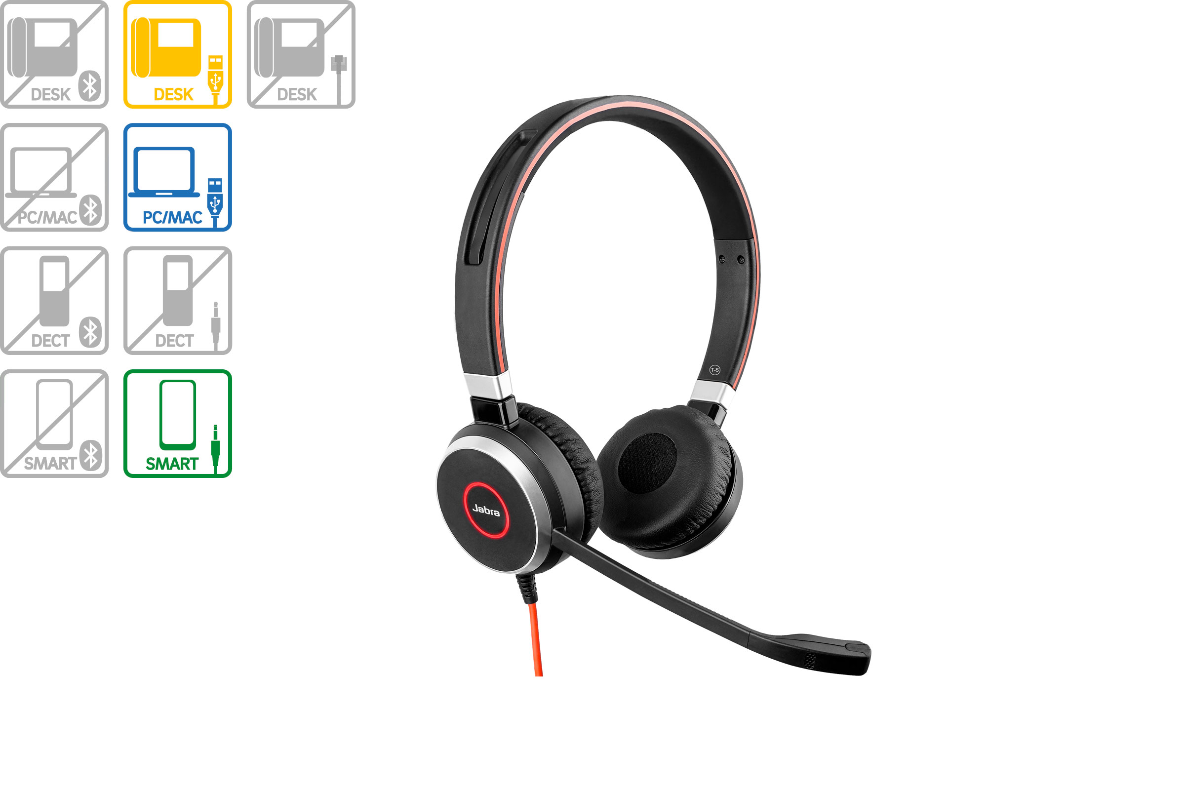Vollansicht - Jabra Evolve 40 Duo