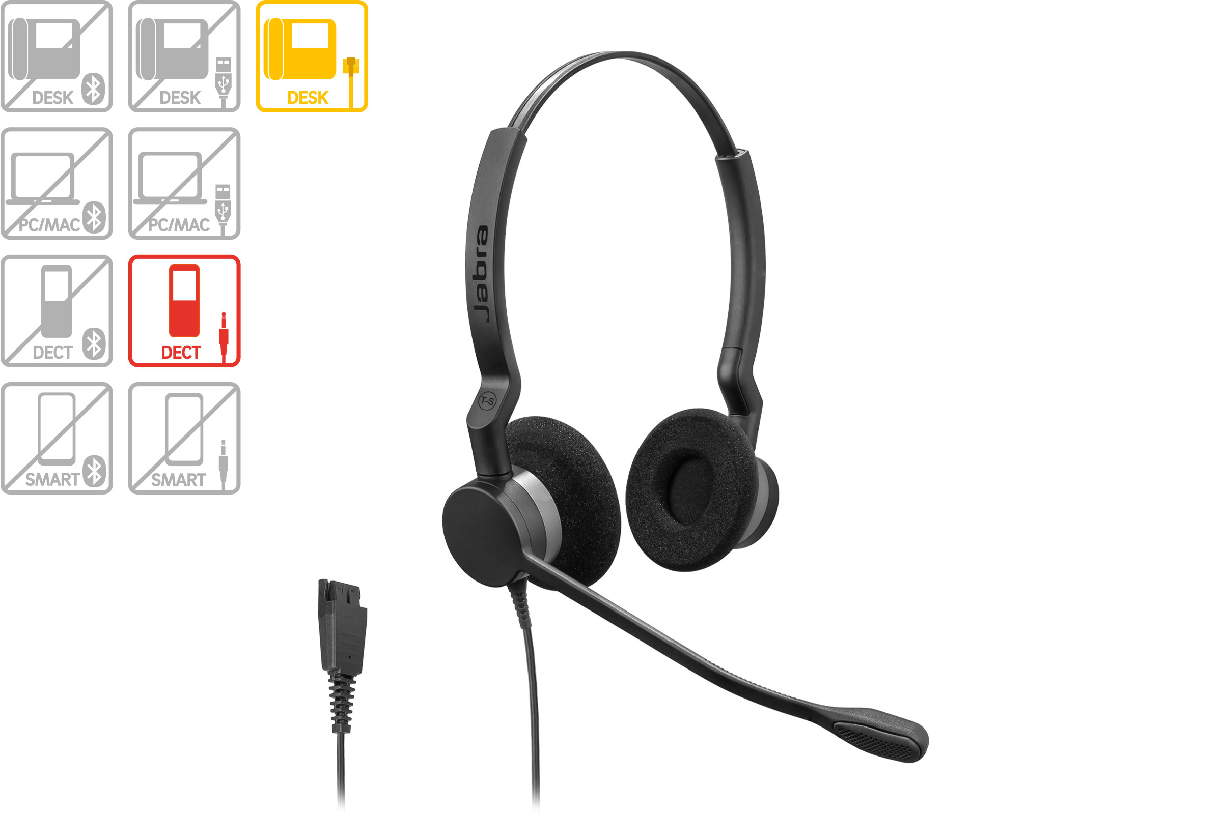 Vollansicht - Jabra Headset BIZ 2300 Duo