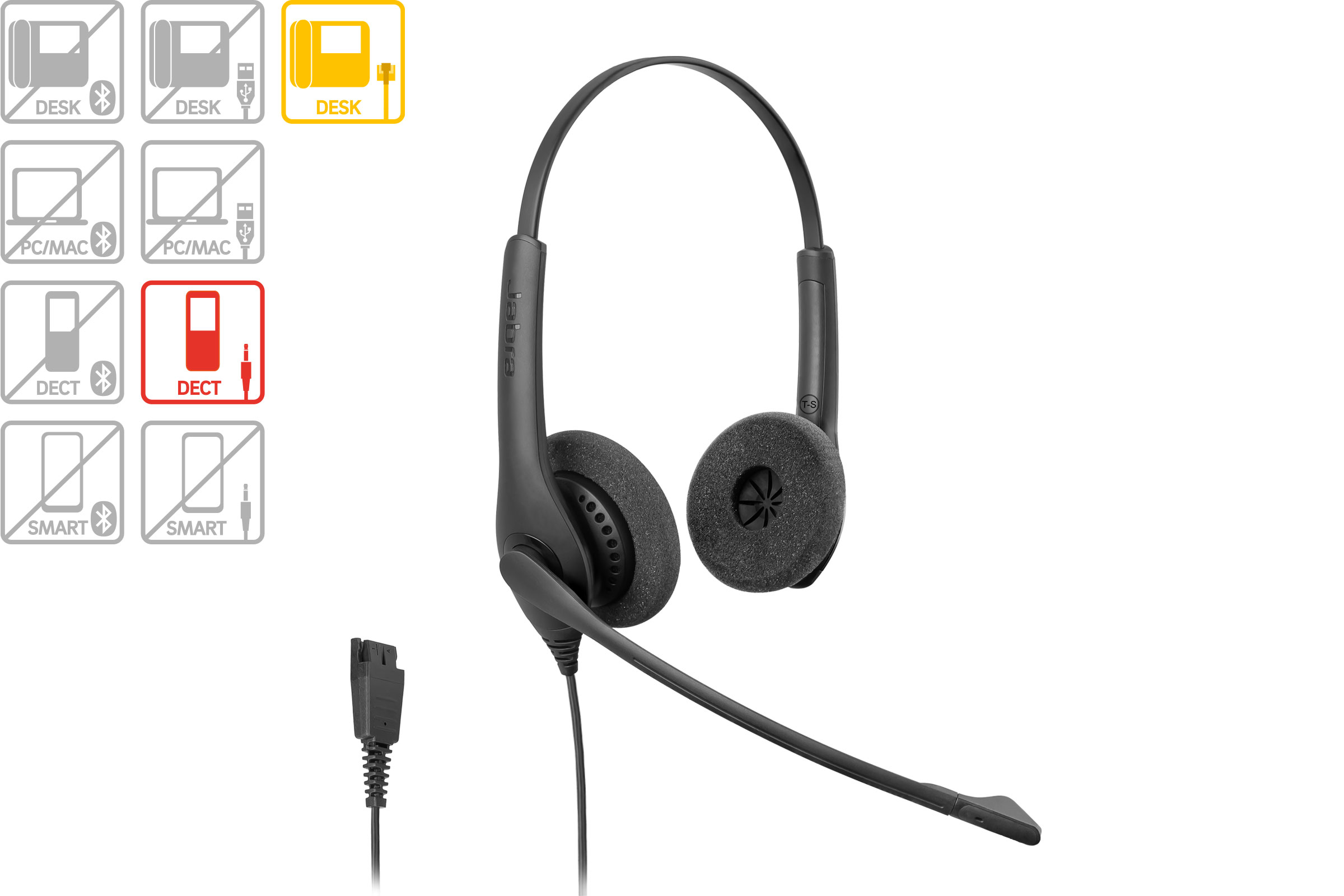 Vollansicht - Jabra Headset BIZ 1500 Duo