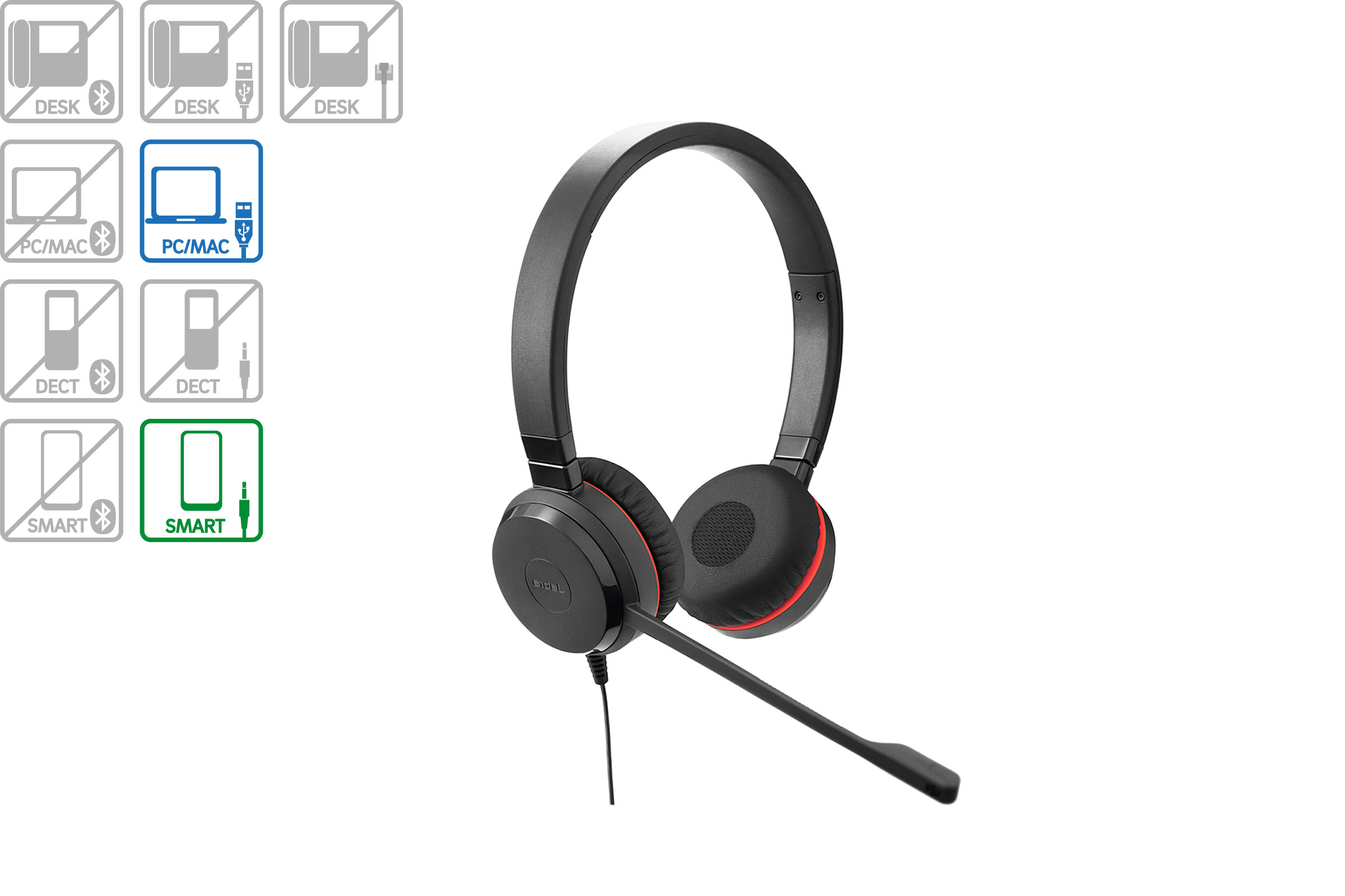 Vollansicht - Jabra Evolve 30 Duo