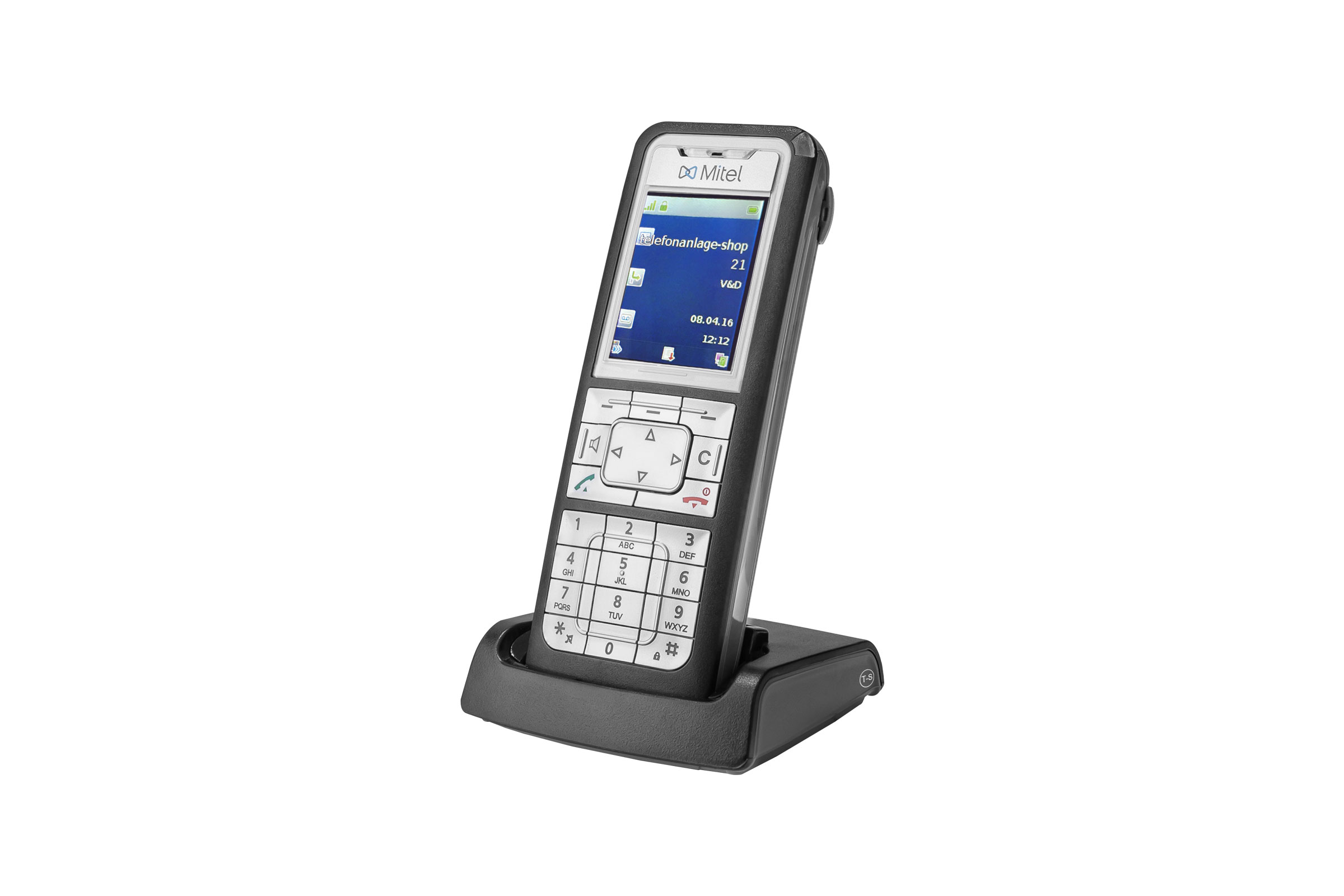 Vollansicht - Mitel 612 DECT Phone - Set mit Ladeschale (Aastra 612d)