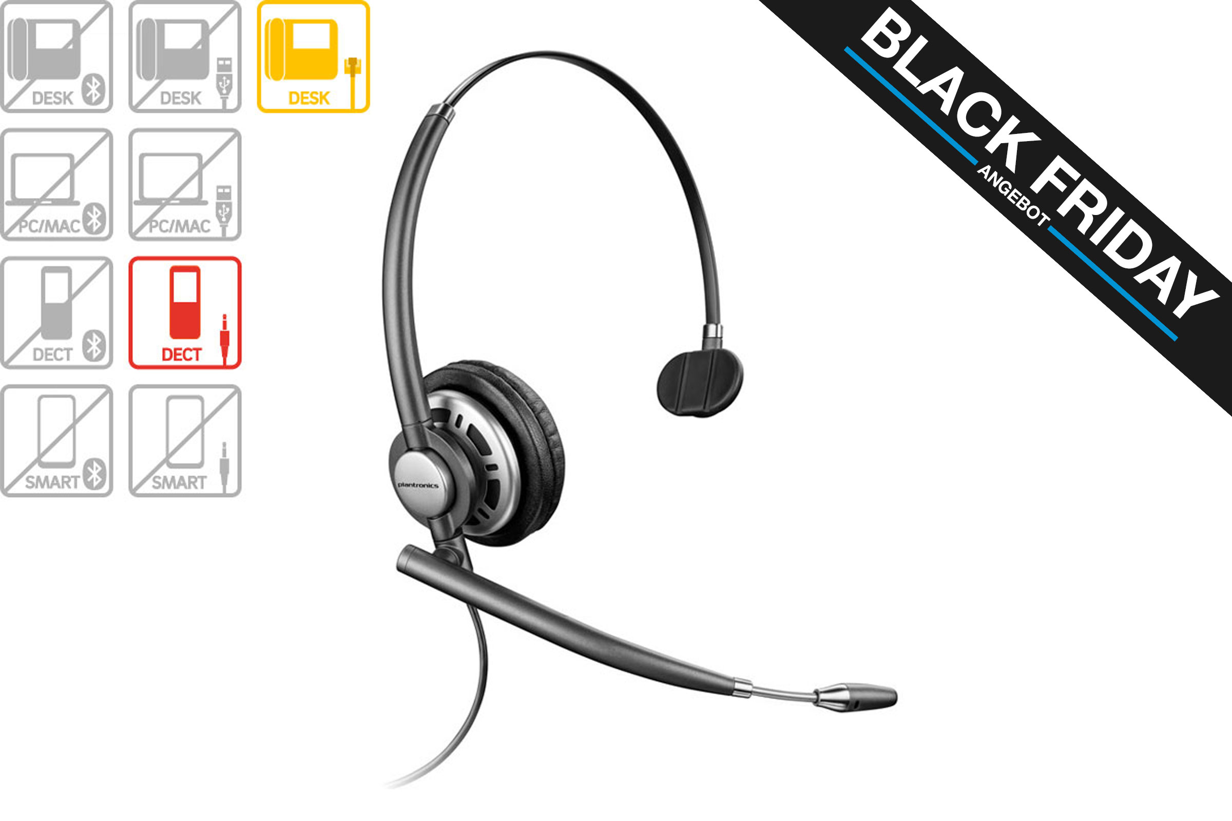 Vollansicht - Plantronics EncorePro HW710