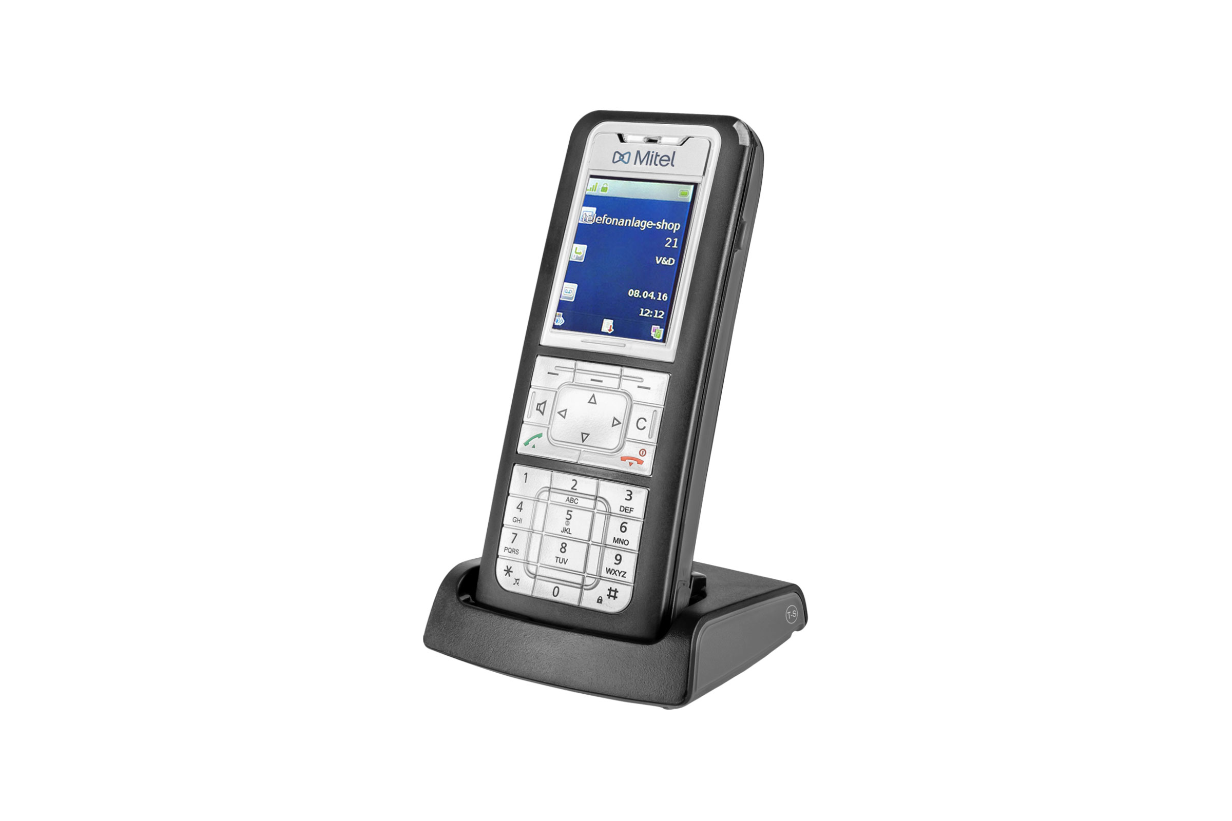 Vollansicht - Mitel 632 DECT Phone - Set mit Ladeschale (Aastra 632d)